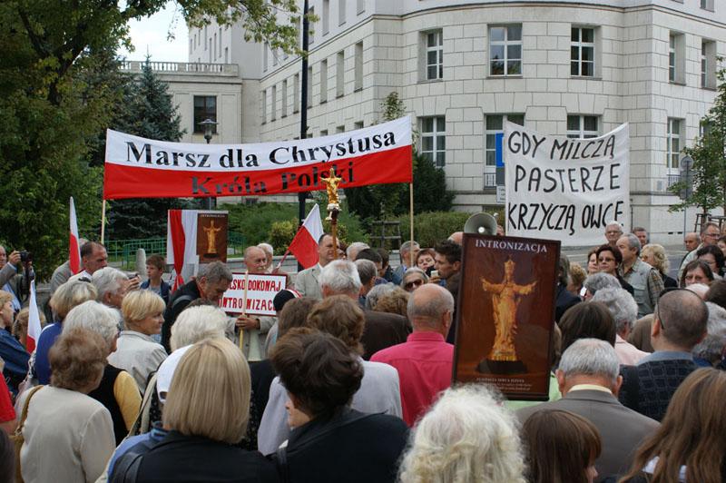 Przeglądasz zdjęcia z galerii: Marsz dla Jezusa Króla Polski - Warszawa 2009