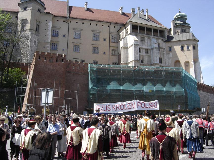 Przeglądasz zdjęcia z galerii: Procesja ze Skałki na Wawel, 2007